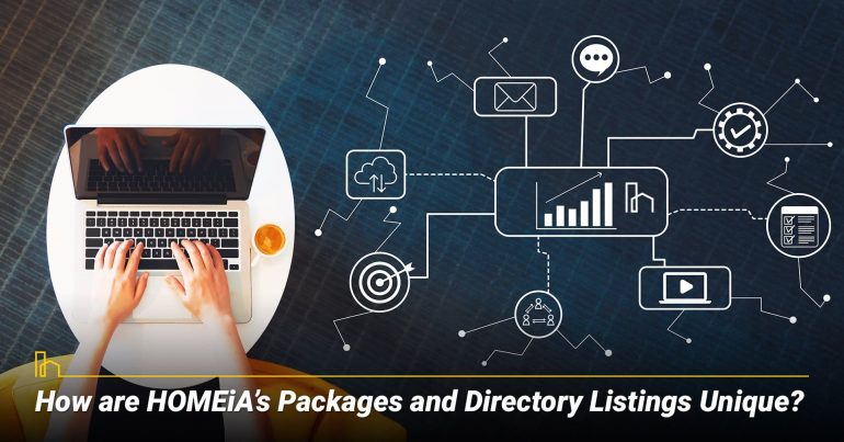 How are HOMEiA's Packages and Directory Listings Unique?