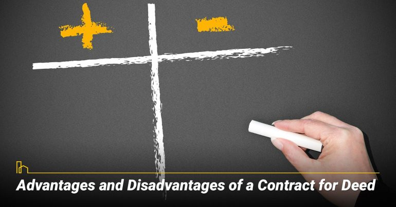 Advantages and Disadvantages of a Contract for Deed