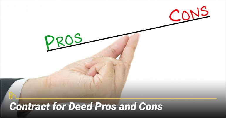 Contract for Deed Pros and Cons