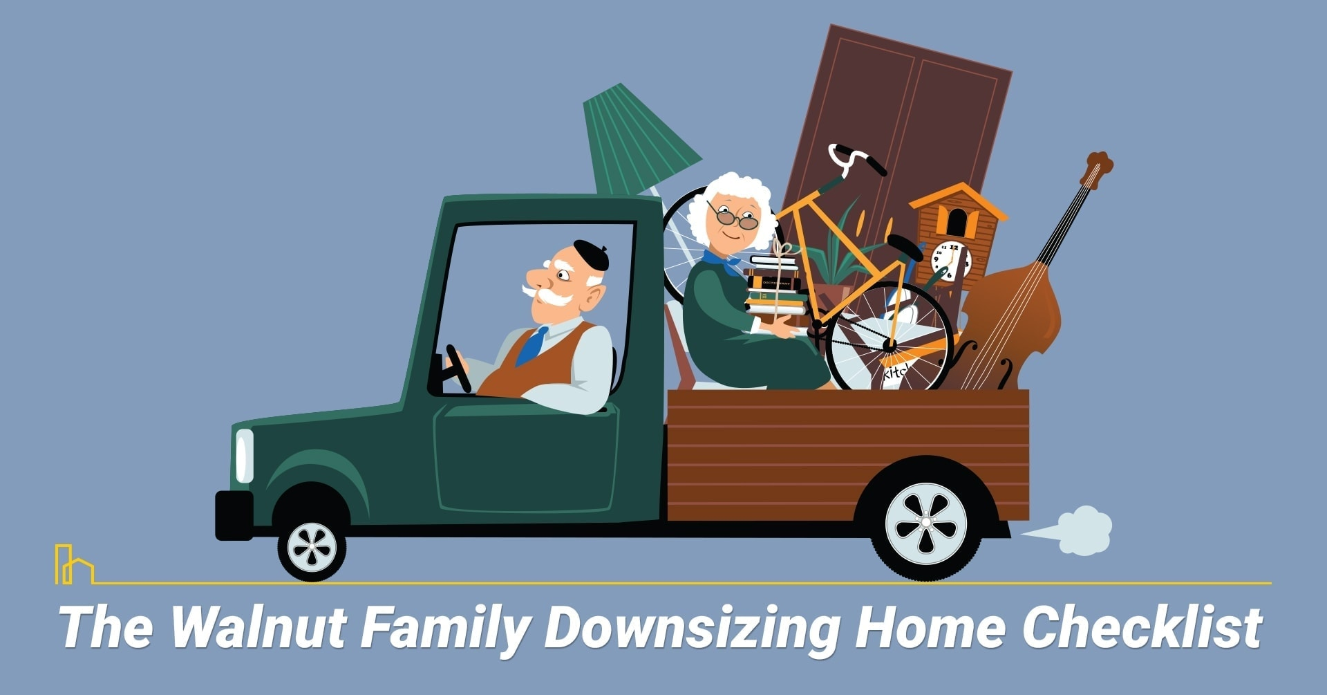 The Walnut Family Downsizing Home Checklist, things to do when downsizing