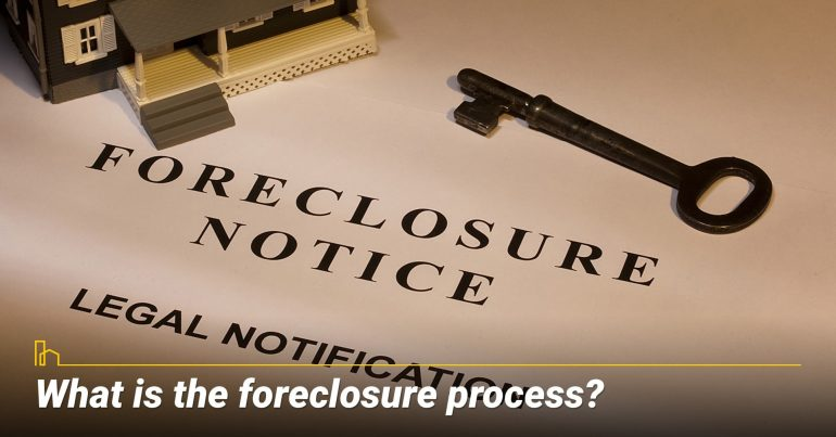 What is the foreclosure process? steps in the foreclosure process