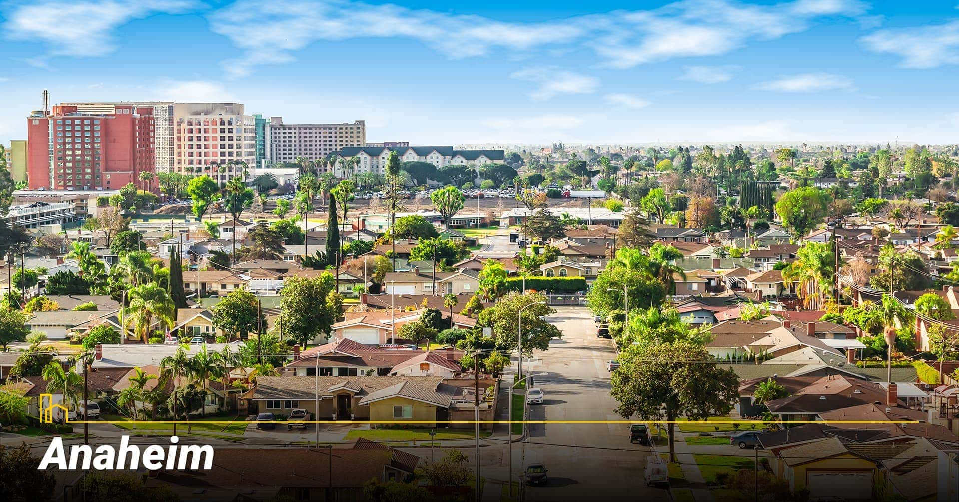 Anaheim city in southern California