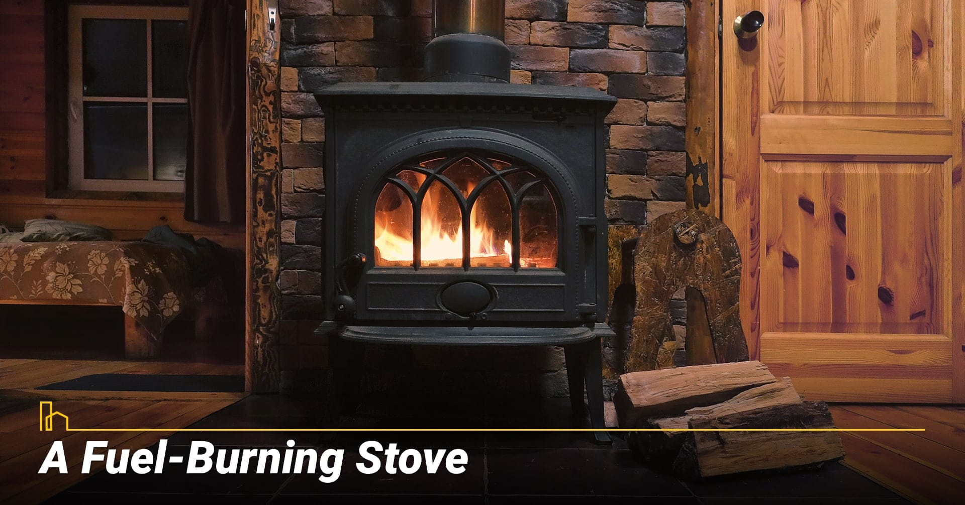 A Fuel-Burning Stove, heat your home with wood-burning stove