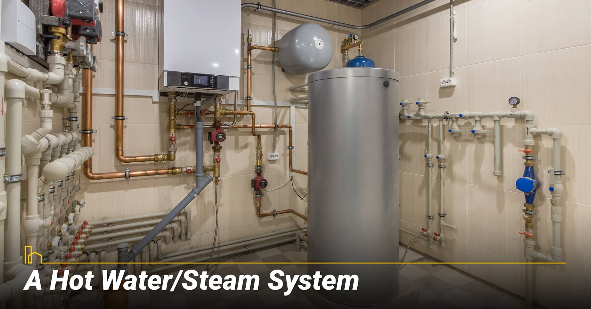 A Hot Water/Steam System, heat your home with hot water system