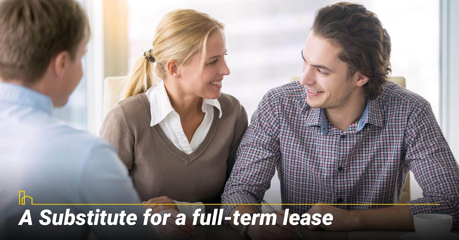 A Substitute for a full-term lease, leasing options