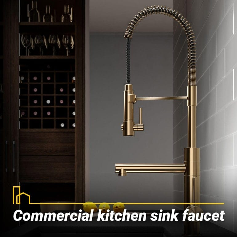 Commercial kitchen sink faucet, faucet for oversized sinks