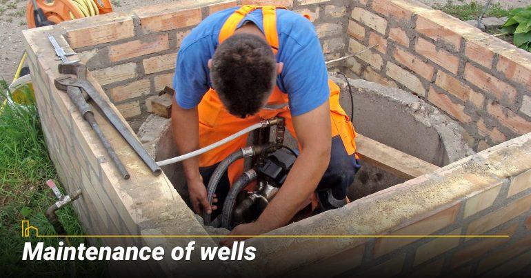 Maintenance of wells