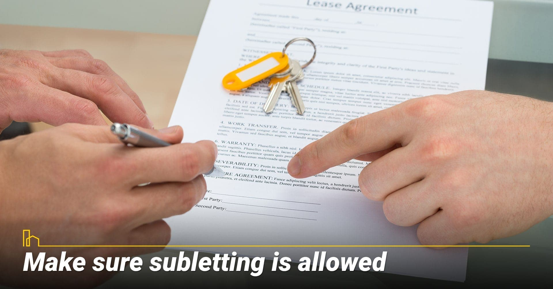 Make sure subletting is allowed, do your homework before subletting