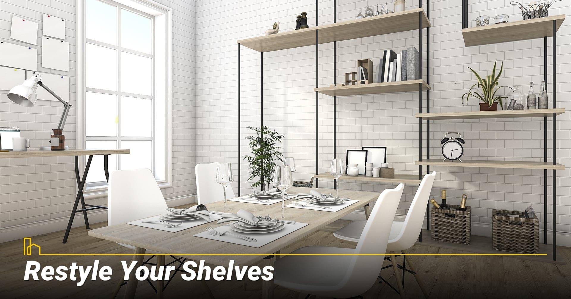 Restyle Your Shelves, add some style to your shelves