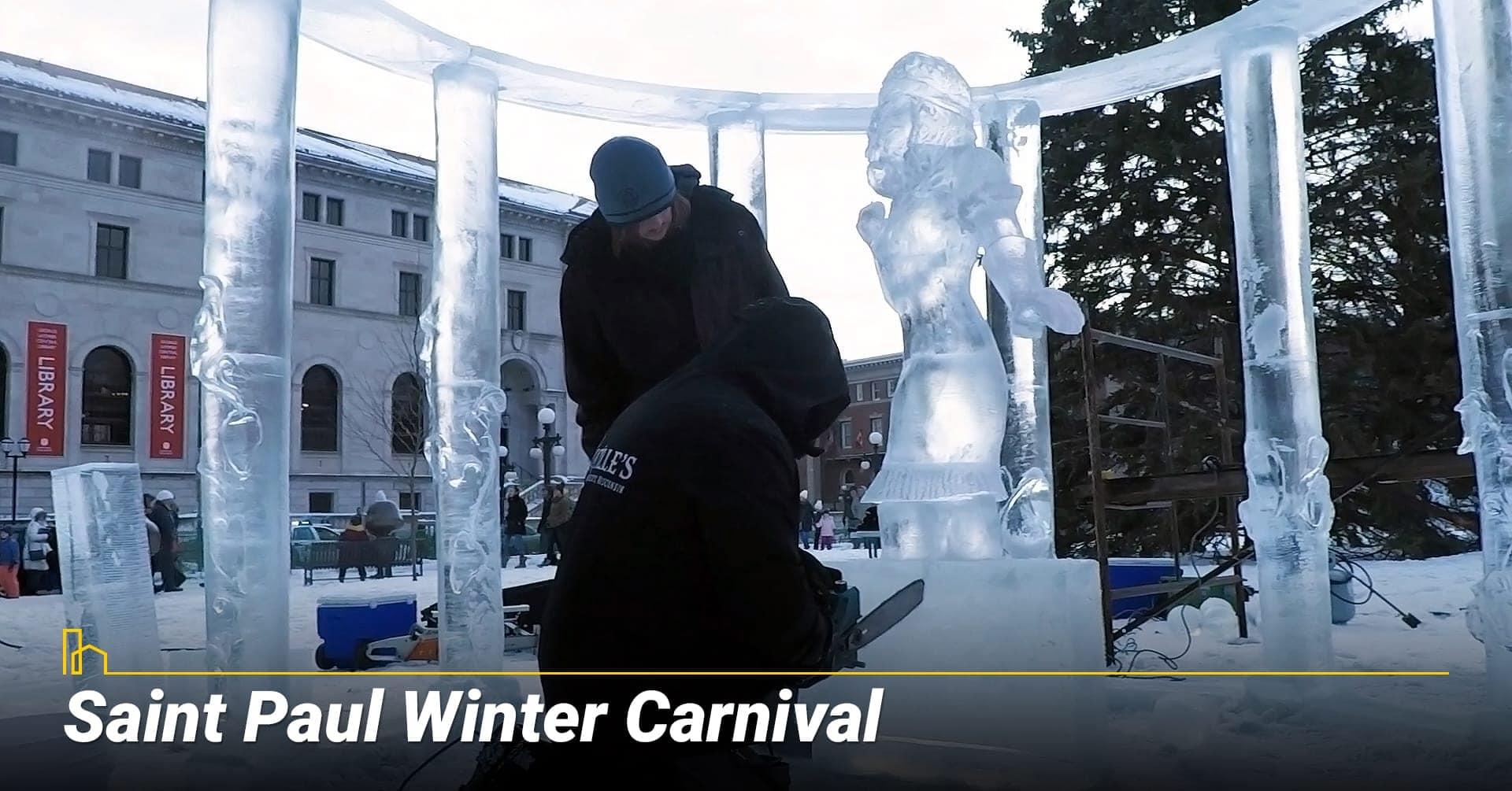 Saint Paul Winter Carnival, ice sculptures winter carnival