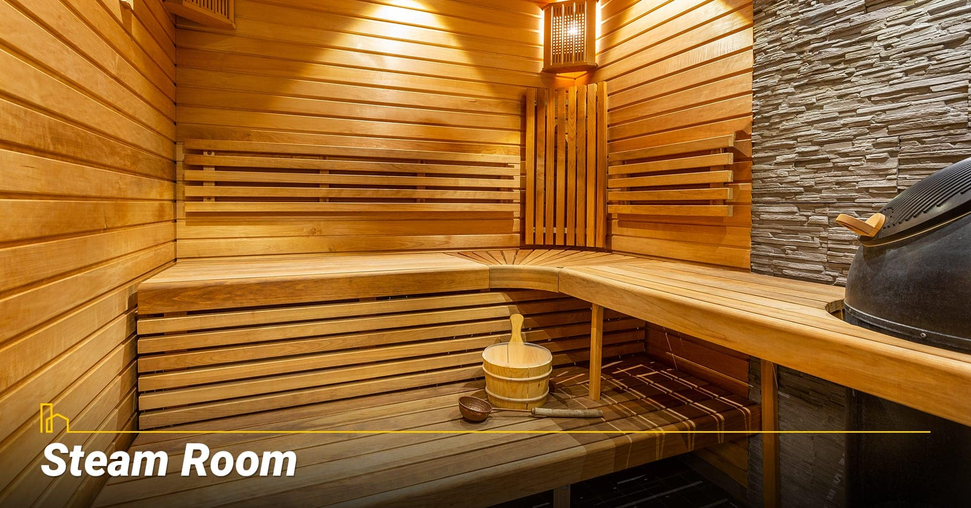 Steam Room, room for relaxation