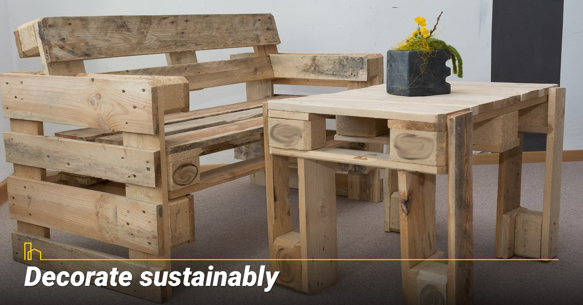 Decorate sustainably, design with environment in mind