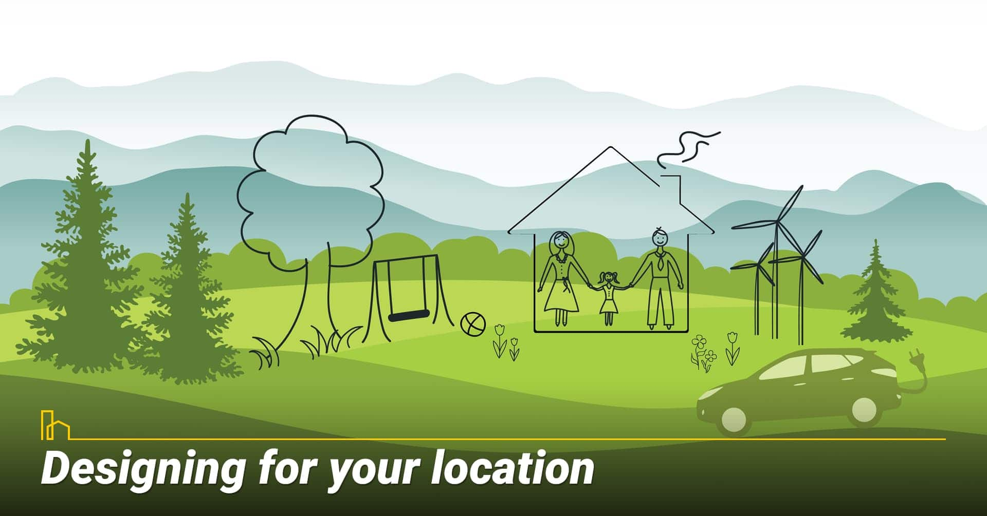 Designing for your location, consider the surrounding areas when design your home