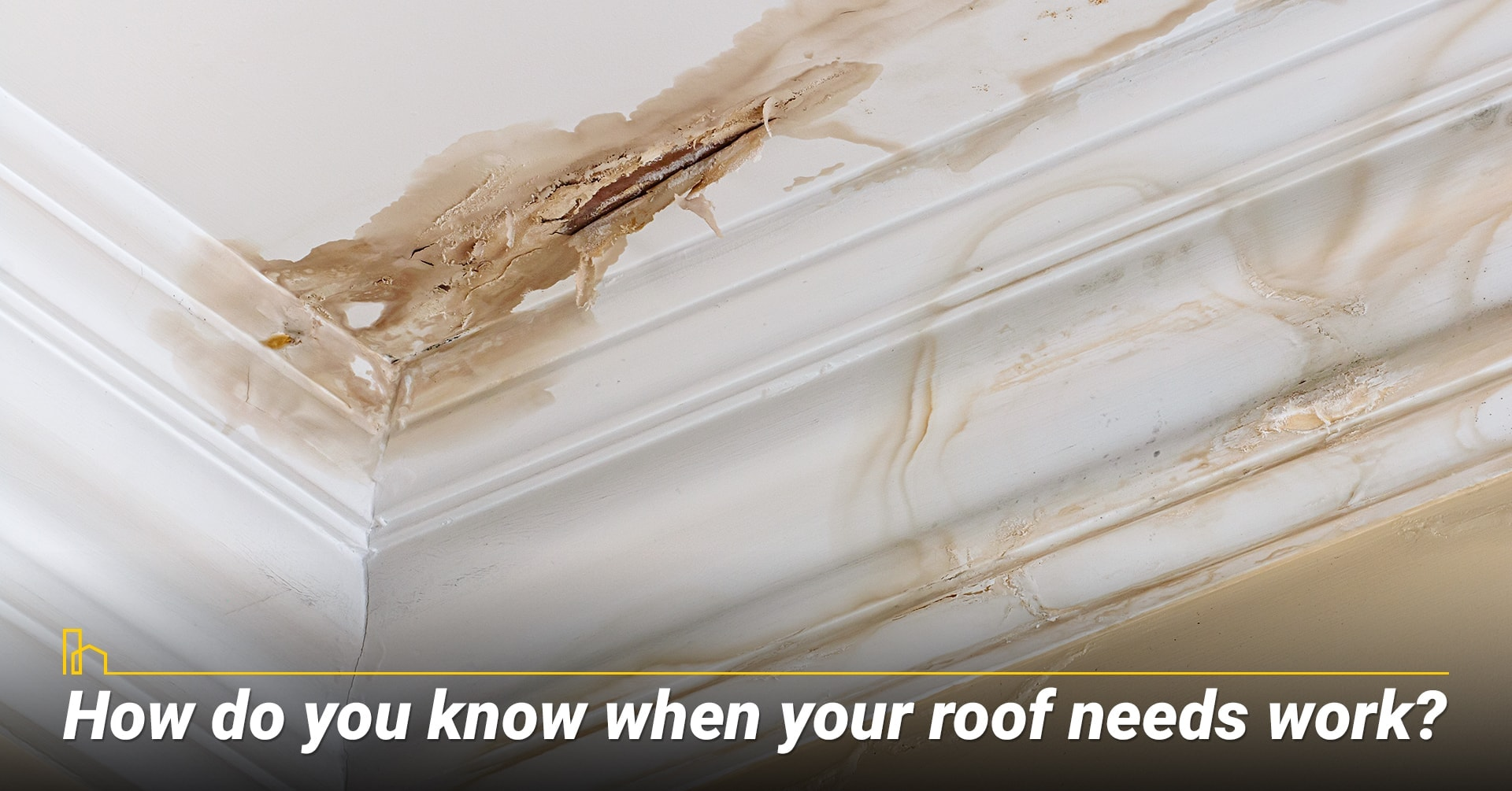 How do you know when your roof needs work? Review condition of the roof