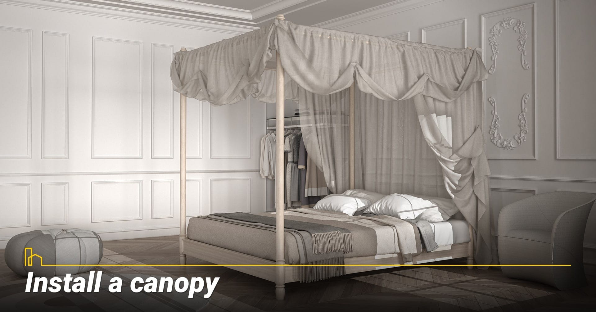 Install a canopy, make good use of canopy
