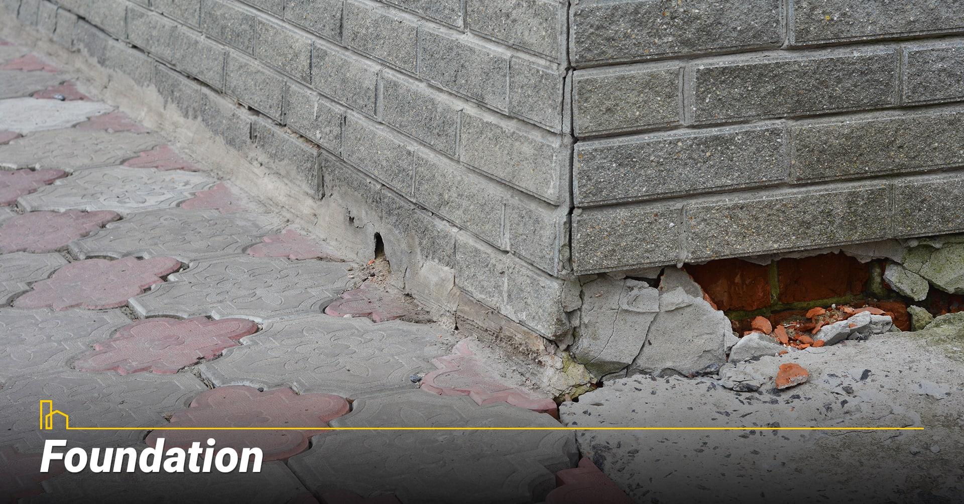 Foundation, repair damaged foundation
