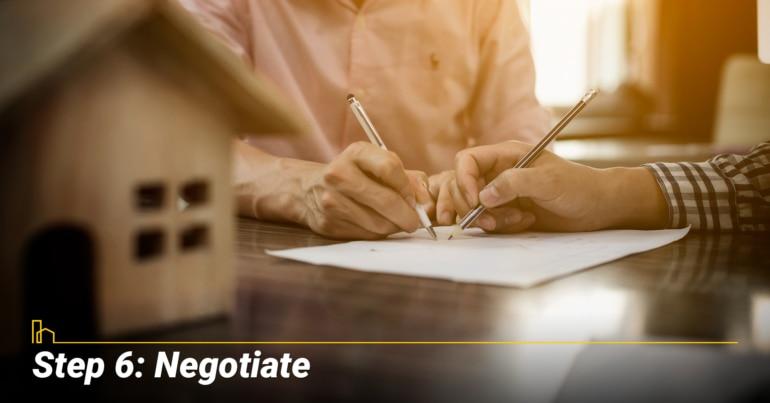Step 6: Negotiate