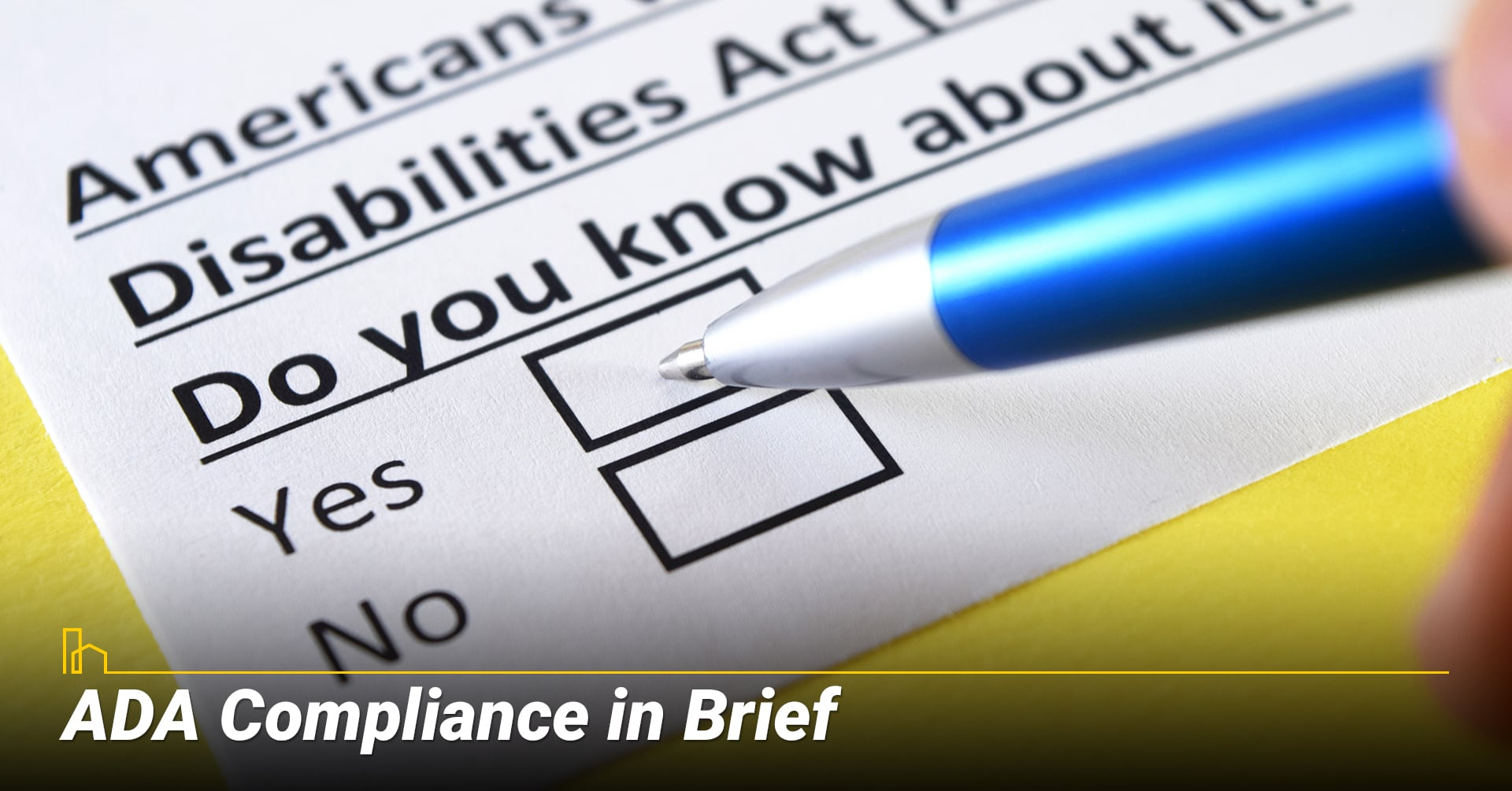ADA compliance in brief, learn about ADA compliance