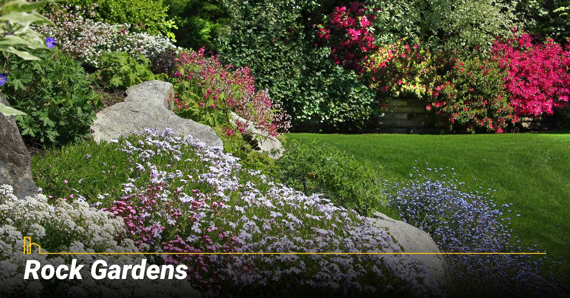 Rock Gardens, use rocks in your garden