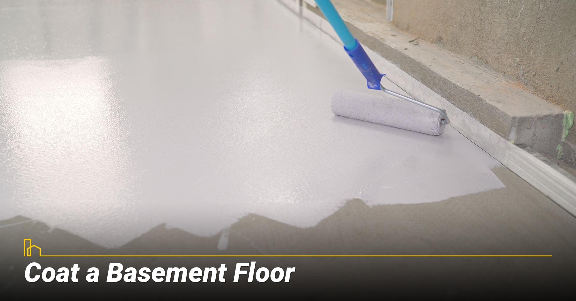 Coat a Basement Floor, a new coat of paint