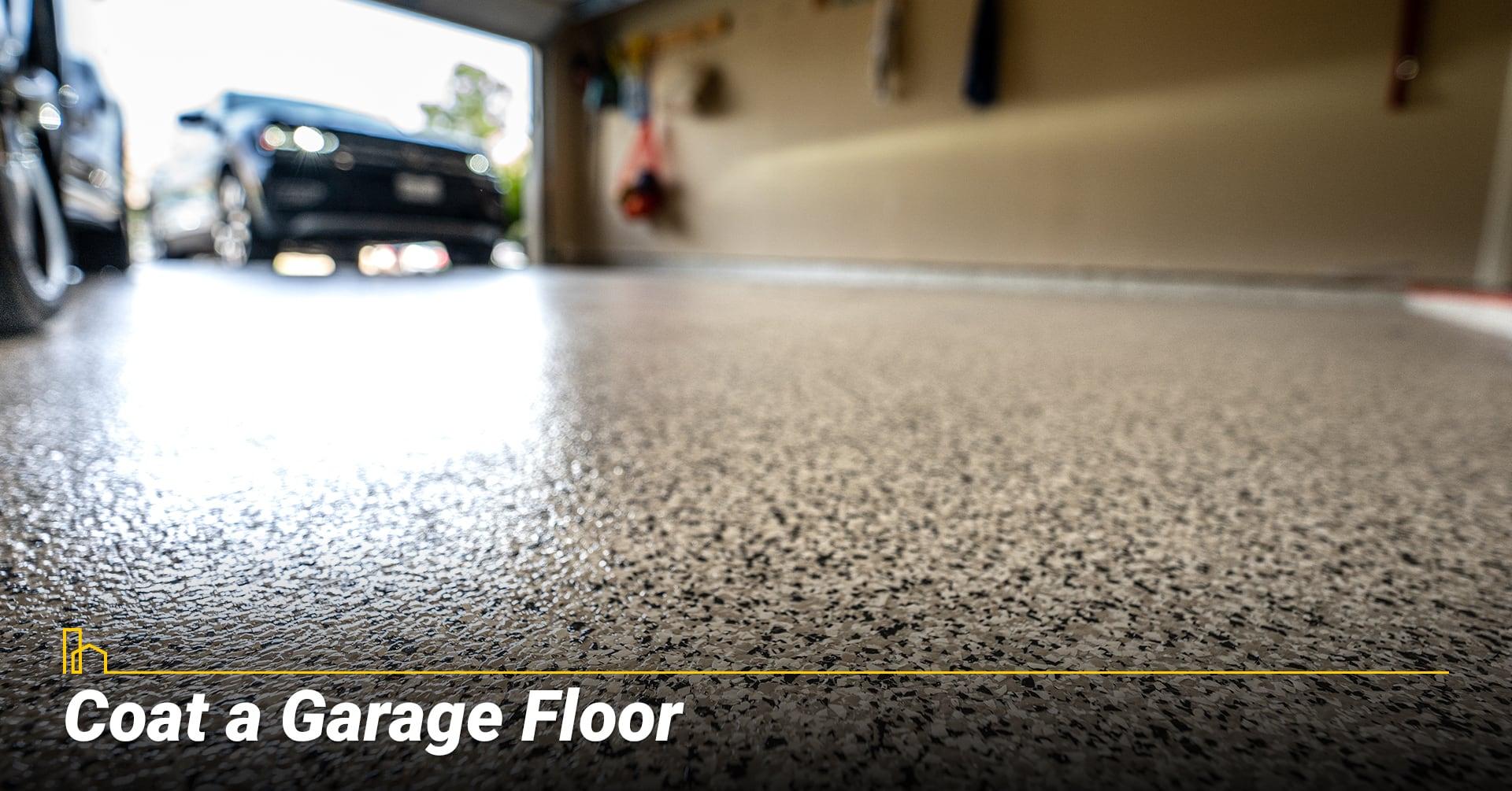 Coat a Garage Floor, resurface garage floor