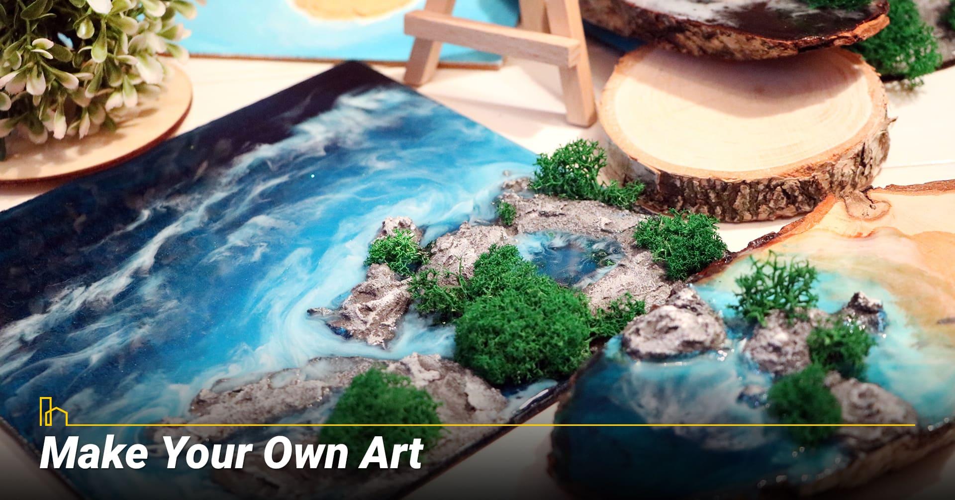 Make Your Own Art, DIY art pieces