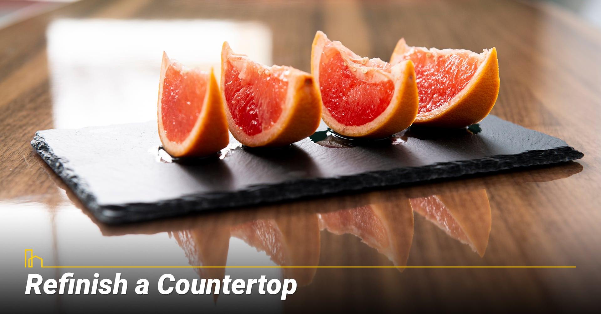 Refinish a Countertop, resurface your countertop