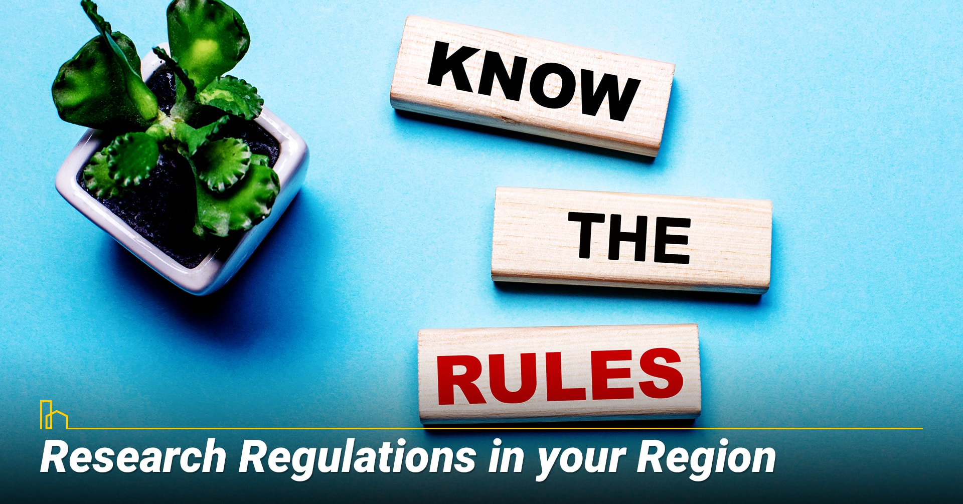 Research Regulations in your Region, learn about local laws