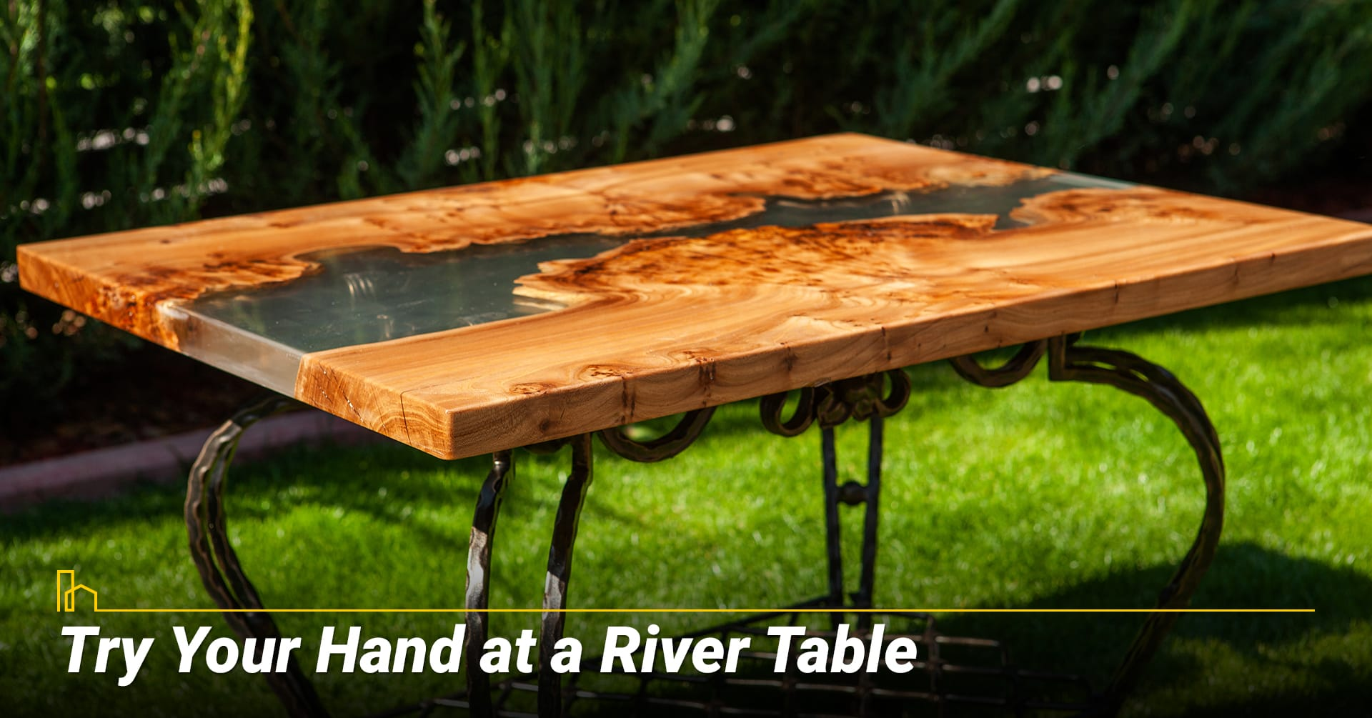 Try Your Hand at a River Table, DIY Epoxy Resin tabletop