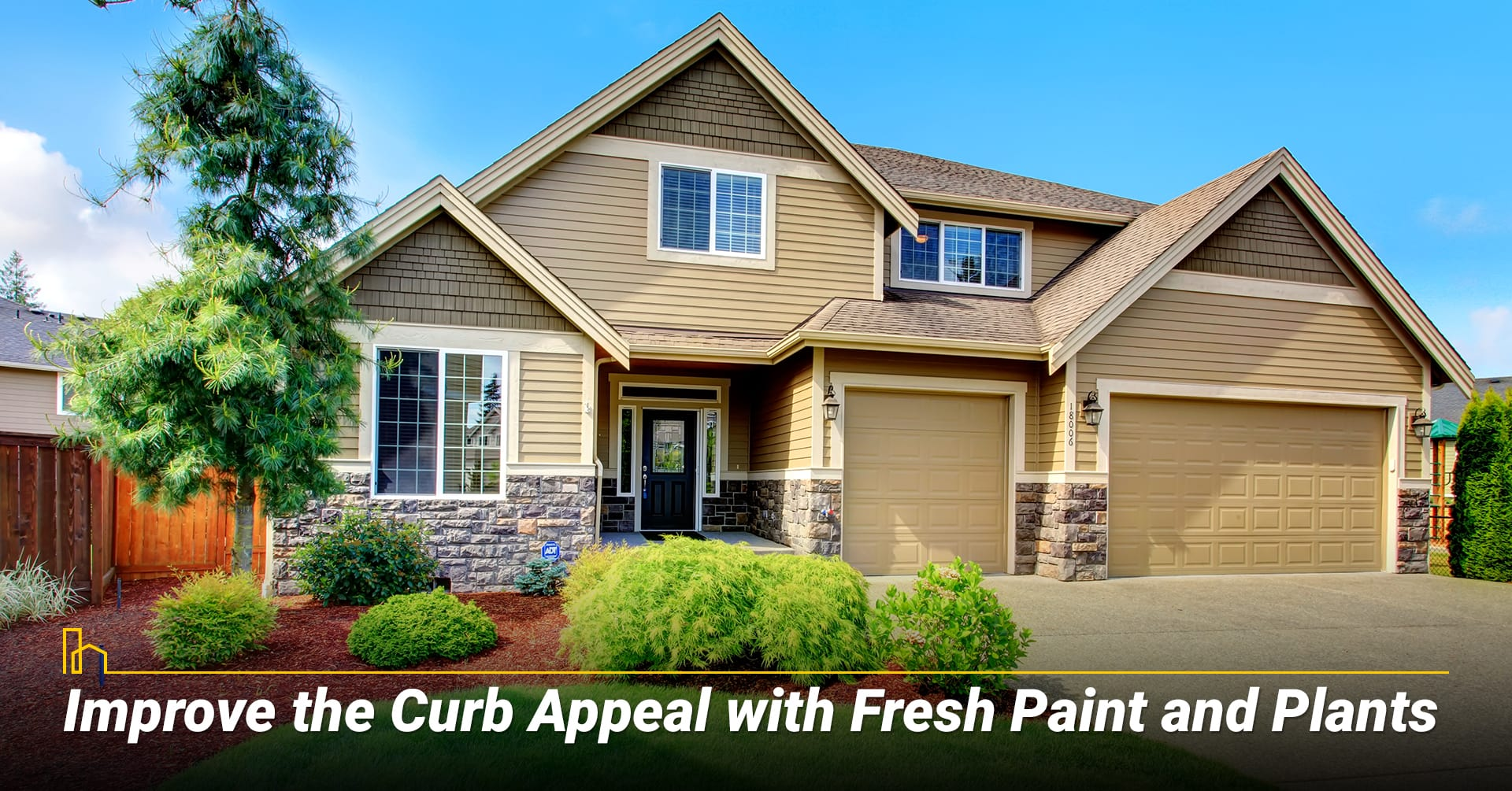 Improve the Curb Appeal with Fresh Paint and Plants, upgrade your exterior