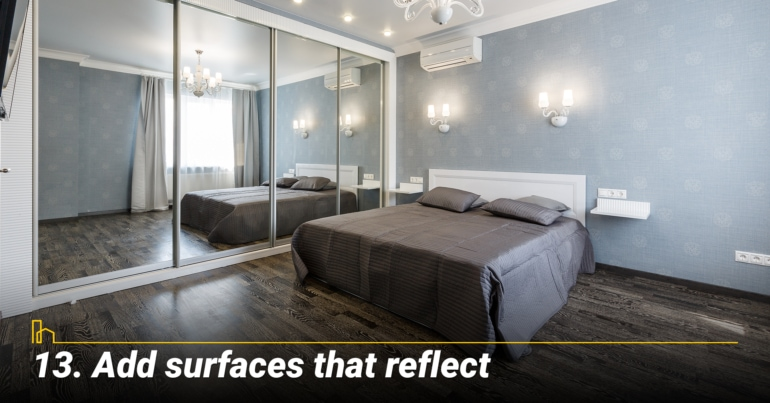 Add surfaces that reflect