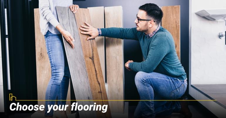 Choose your flooring
