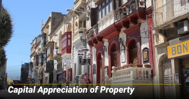 Capital Appreciation of Property