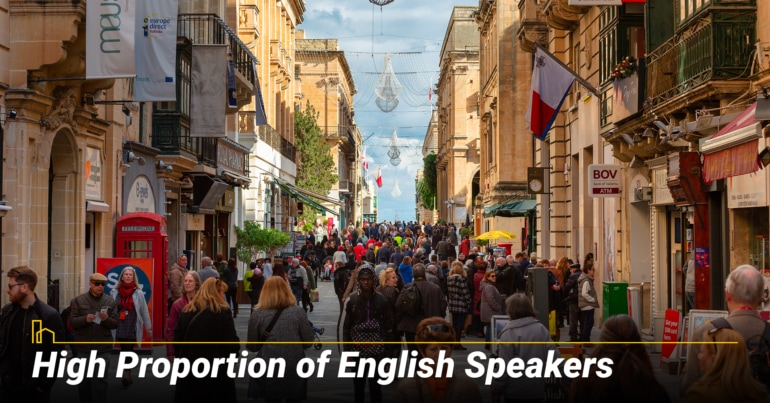 High Proportion of English Speakers