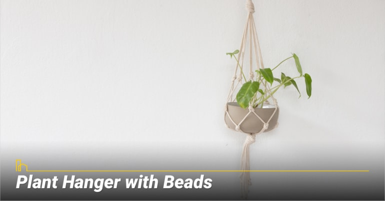 Plant Hanger with Beads