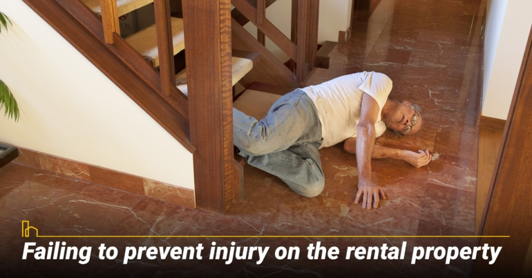 Failing to prevent injury on the rental property