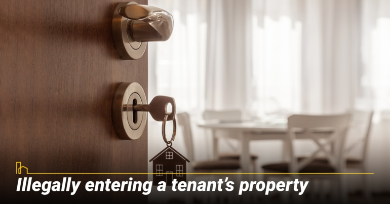 Illegally entering a tenant's property