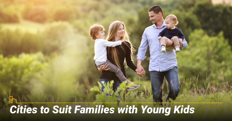 Cities to Suit Families with Young Kids