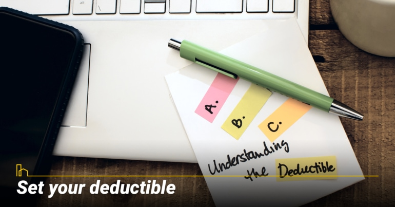 Set your deductible