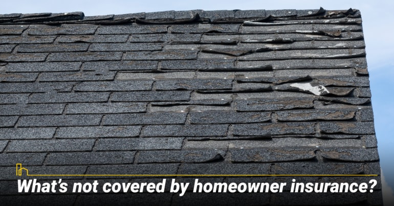 What's not covered by homeowner insurance?