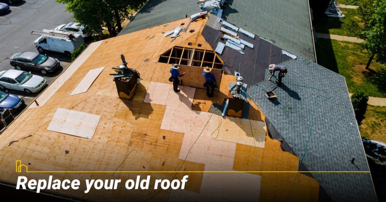 Replace your old roof.