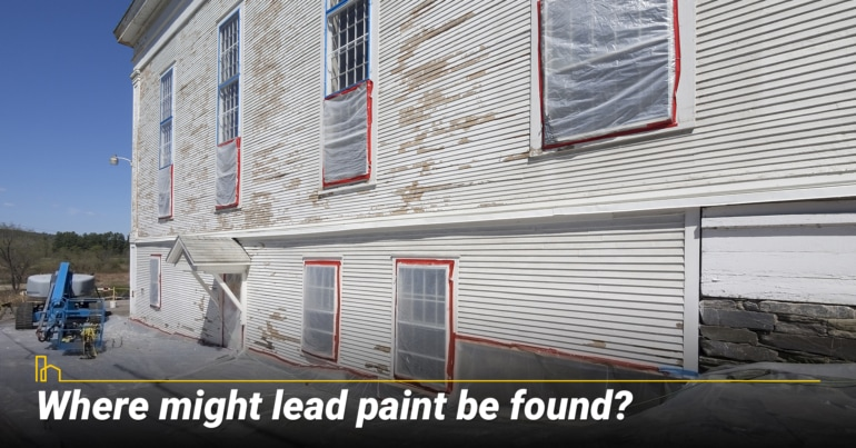 Where might lead paint be found?