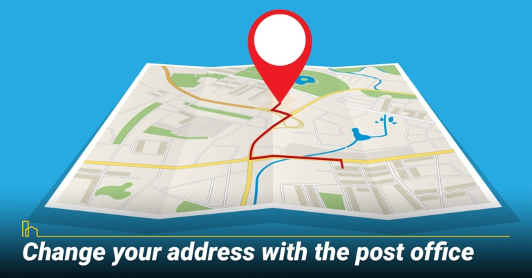 Change your address with the post office