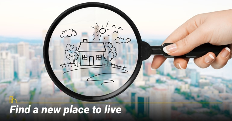 Find a new place to live