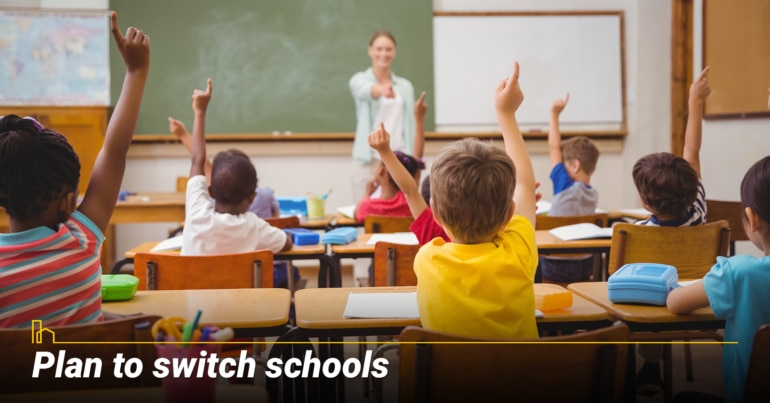 Plan to switch schools