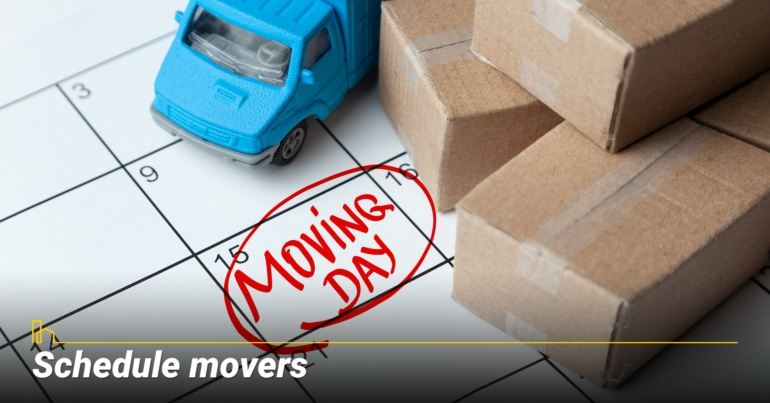Schedule movers